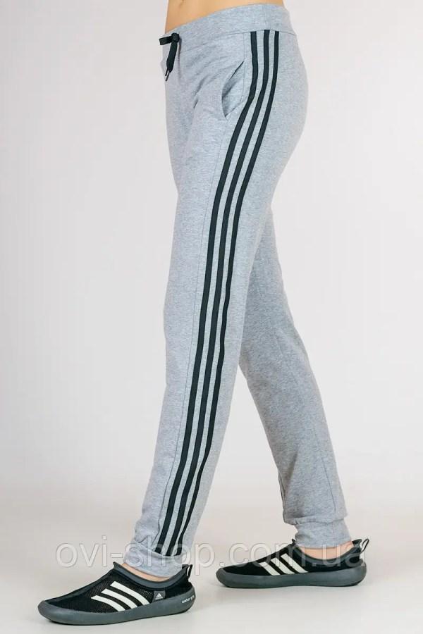 Купить Спортивные штаны женские с лампасами (светло-серые ...