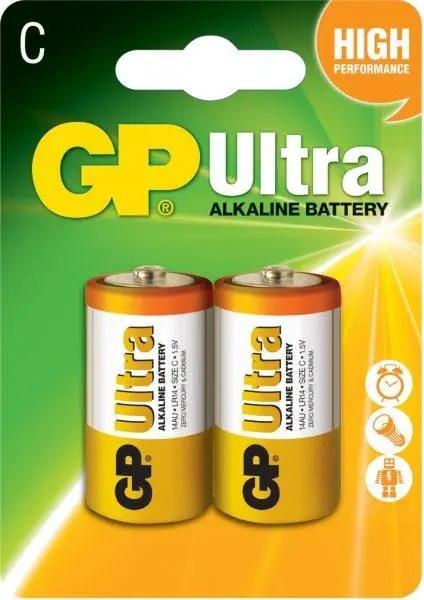 Батарейки GP C (LR14) Ultra Alcaline 1.5V 2шт - купить по ...