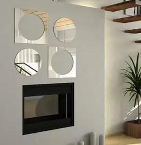 Красивый декор стен - акриловое зеркало «Круги и квадраты ...
