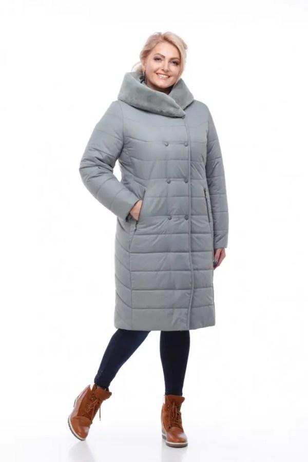 Актуальное женское зимнее пальто больших размеров Ким ...
