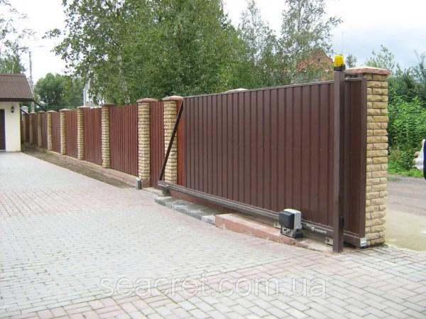 Откатные ворота из профнастила: продажа, цена в Киеве ...
