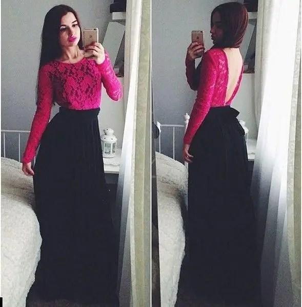Купить Платье в пол с гипюром и открытой спиной в ...