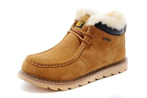 Ботинки зимние мужские Caterpillar Winter Boots Yellow