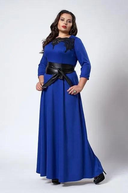 Женские платья в пол больших размеров: продажа, цена в ...