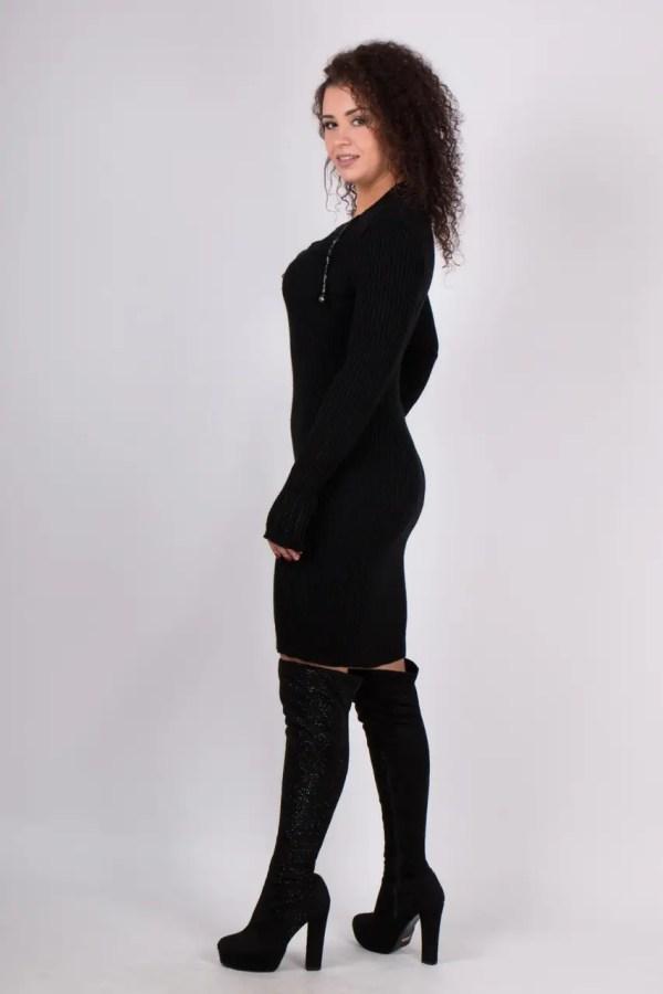 Вязаное платье Рианна черный 42-48р: продажа, цена в ...