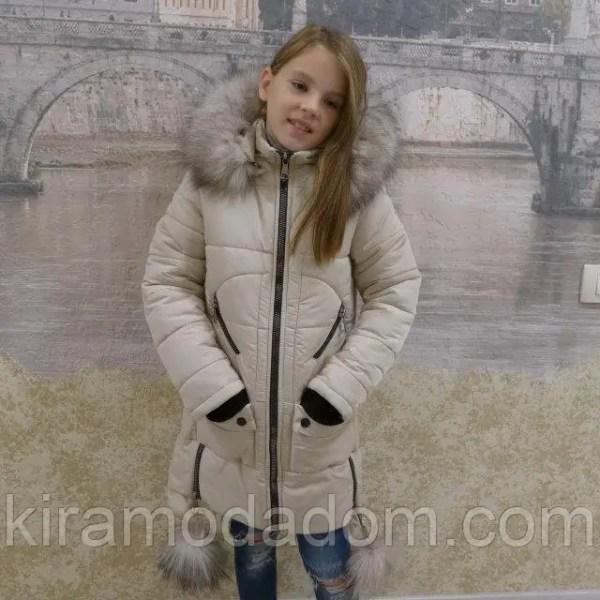 Зимние куртки для девочек с натуральным мехом и капюшоном ...