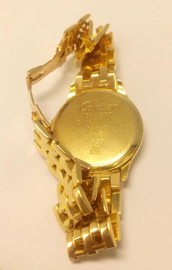 """Часы золотые с браслетом """"Cartier"""", 18 камней. 750 проба ..."""