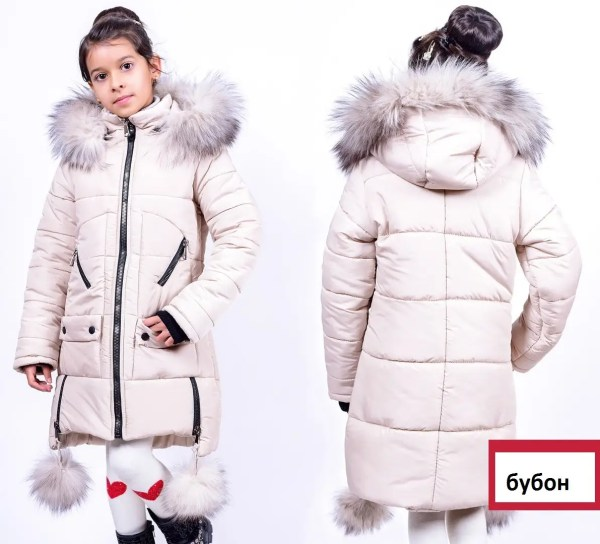 Детские зимние куртки для девочек с натуральным мехом ...