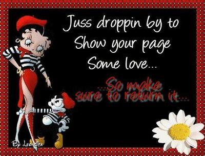 Show Your Page Some Love Betty Boop Showing Love