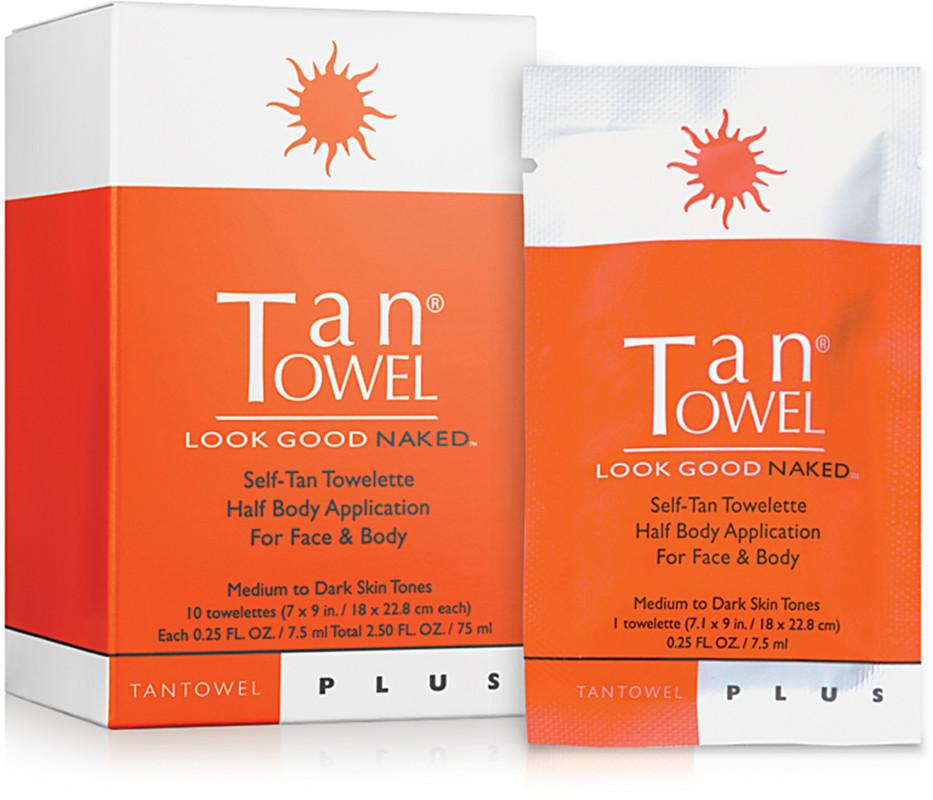 plus self tan towelette half body application for face body