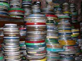 Craig Baldwin's 16mm film archive (by Lynne Sachs)