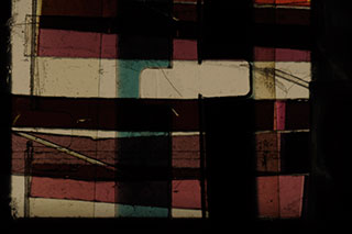 Abstract collage of spliced 16mm film