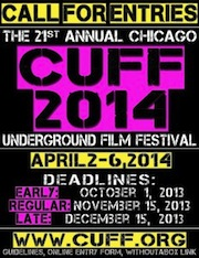 Poster with deadline dates for the Chicago Underground Film Festival