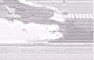 Text based illustration of a plane crash