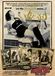 Movie poster featuring a sexy woman lying on a car hood