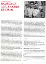 Film festival program scan featuring George and Mike Kuchar