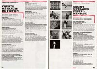 Film festival program scan featuring film stills