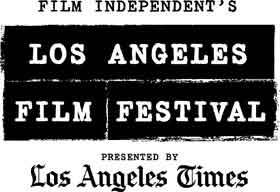 Los Angeles Film Festival logo that looks like newspaper type