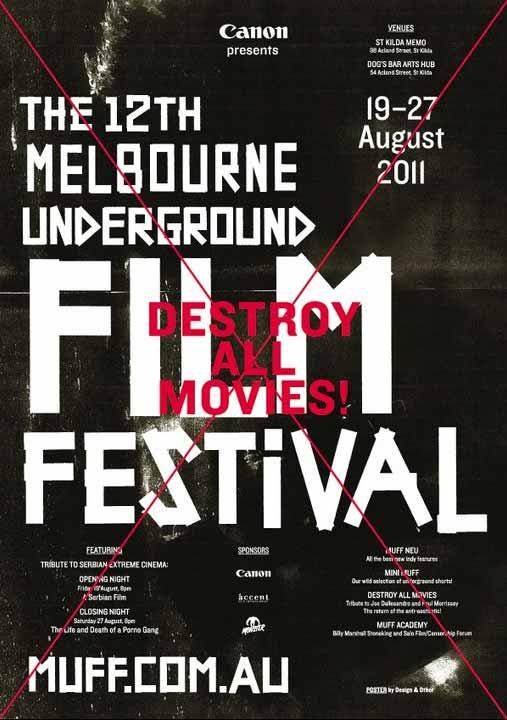 Poster for 12th Melbourne Underground Film Festival