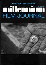 Cover for the Millennium Film Journal 53 featuring a hand holding a button