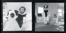 George Landow dressed as a panda