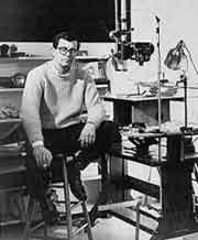 A young Robert Breer in his studio