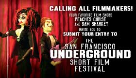 San Francisco Underground Short Film Festival submission postcard