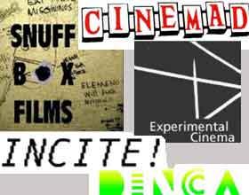 Collage of movie blog logos