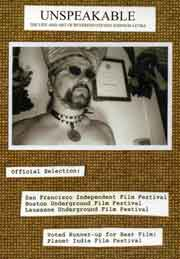 DVD cover with photograph of artist Steven Johnson Leyba