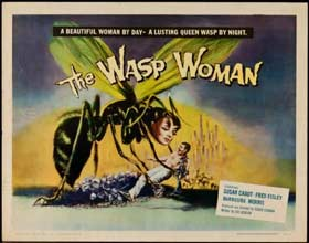 Poster for the classic horror movie The Wasp Woman