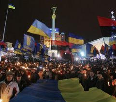 New year celebrations at Kyiv's central square, the Maidan