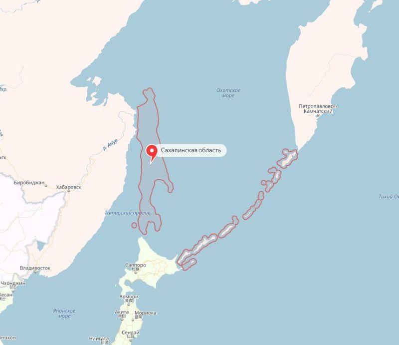 Острів зникає при збільшенні карти / скріншот Рен ТВ