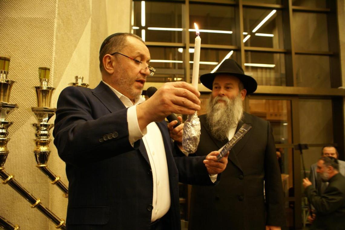 Михаэль Ткач с раввином Шмуэлем Каминецким