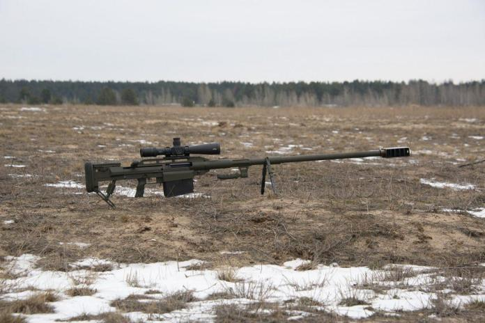 The total length of the rifle - 2000 mm, weight without magazine with cartridges - 22.5 kg.  / фото armyinform.com.ua