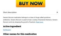 Generic Norfloxacin Medicine   Order Noroxin Without Prescription