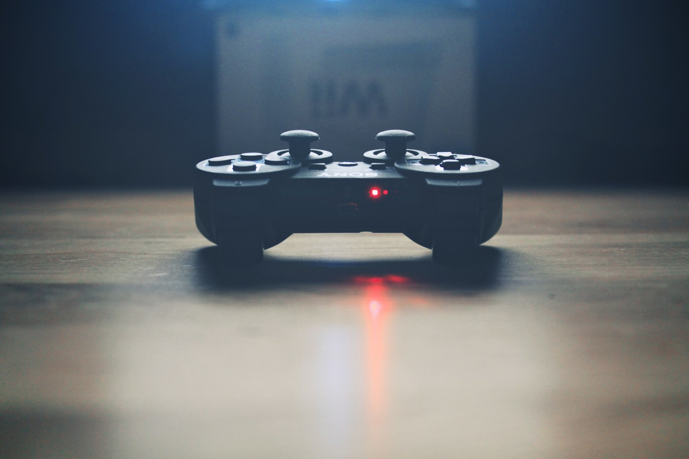 Games industry in Scotland. turned on wireless dualshock game controller