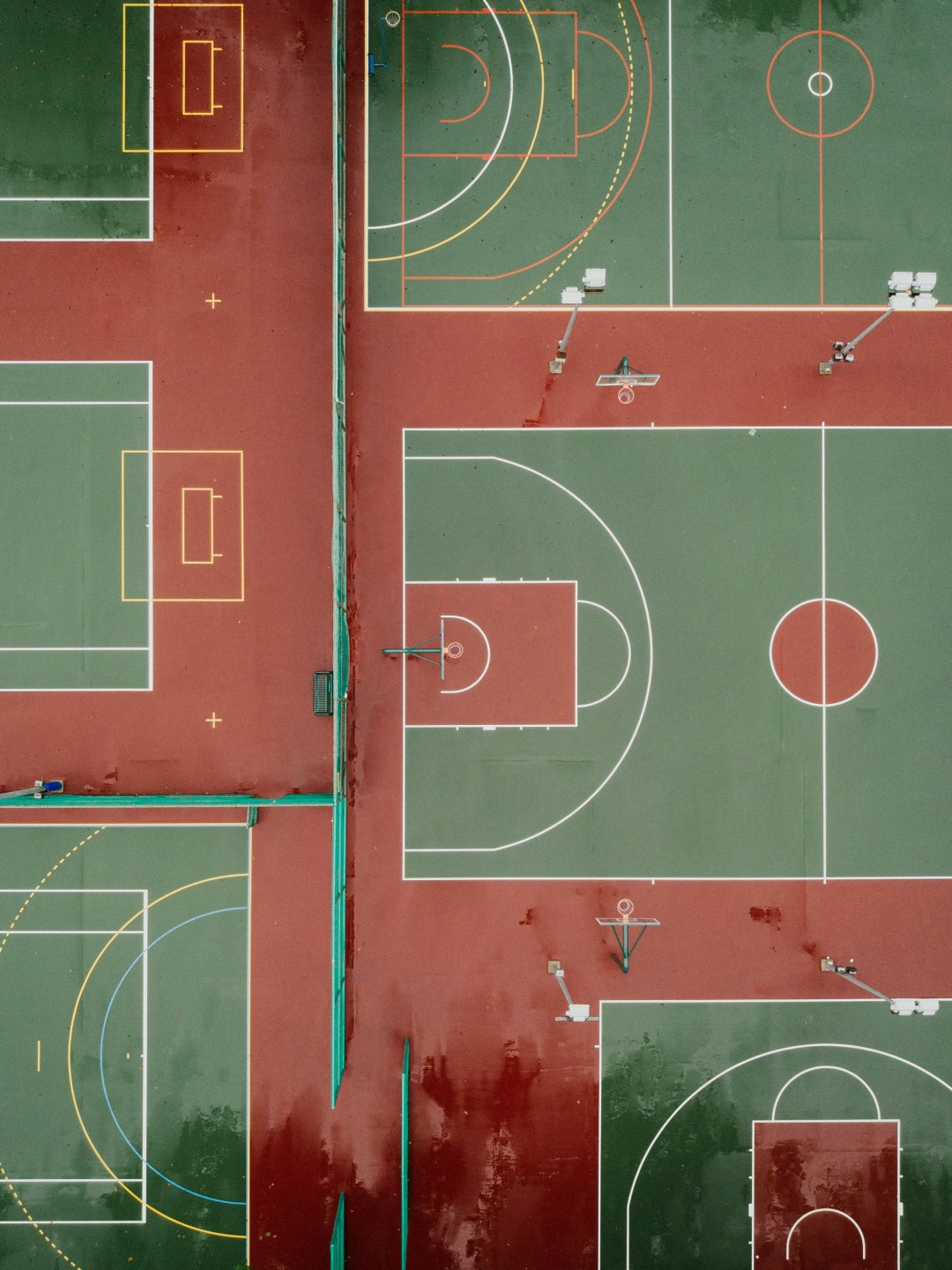 Aerial Photography Of Basketball Court Photo Free