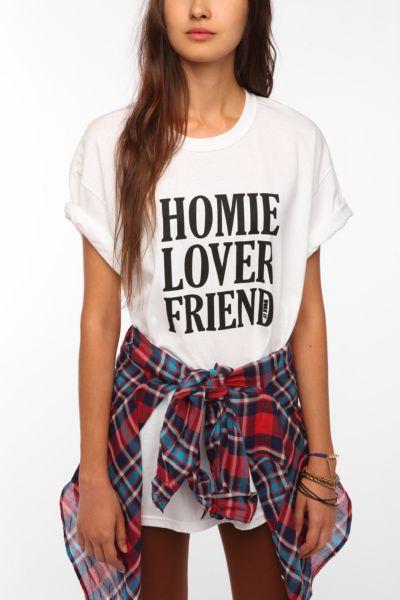 Work It Homie Lover Friend Boyfriend Tee - Urban Outfitters