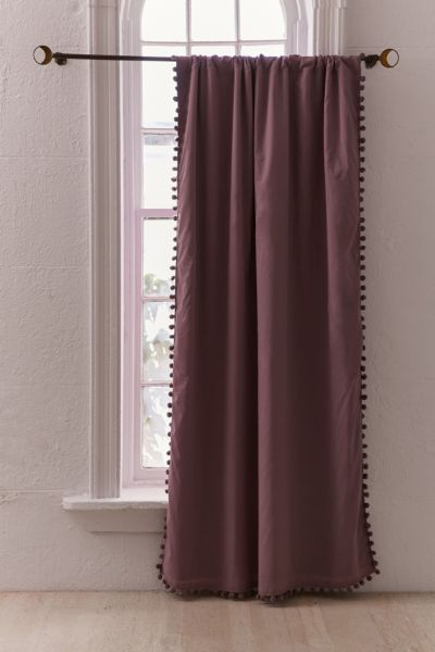 Blackout Pompom Curtain Urban Outfitters