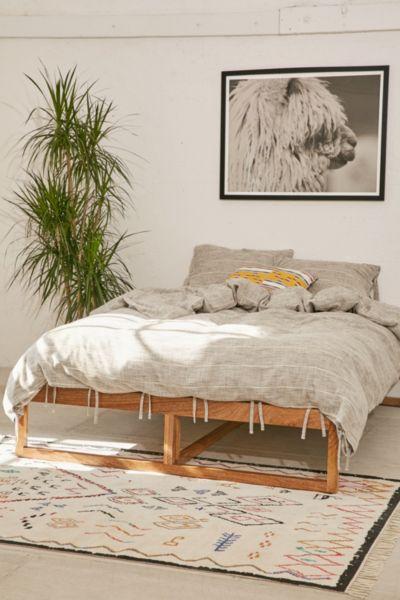 Morey Platform Bed   Urban Outfitters on Modern Boho Bed Frame  id=86220