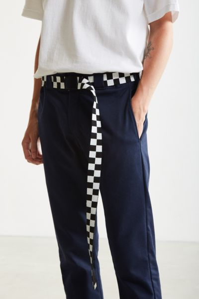 UO Checkered Extra Long Web Belt Urban Outfitters