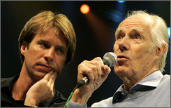 The Cirque remix is by Giles Martin and his father, original Beatles producer George Martin.
