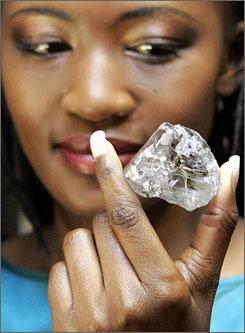 Worlds 15th largest diamond found in 2006.