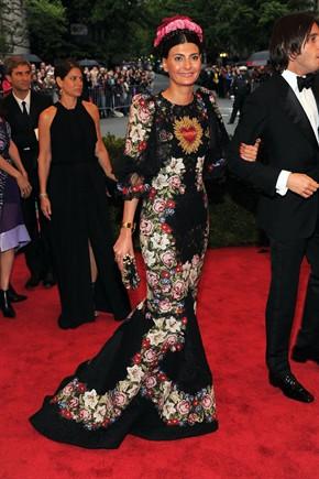Giovanna Battaglia in Dolce&Gabbana (Getty Images)