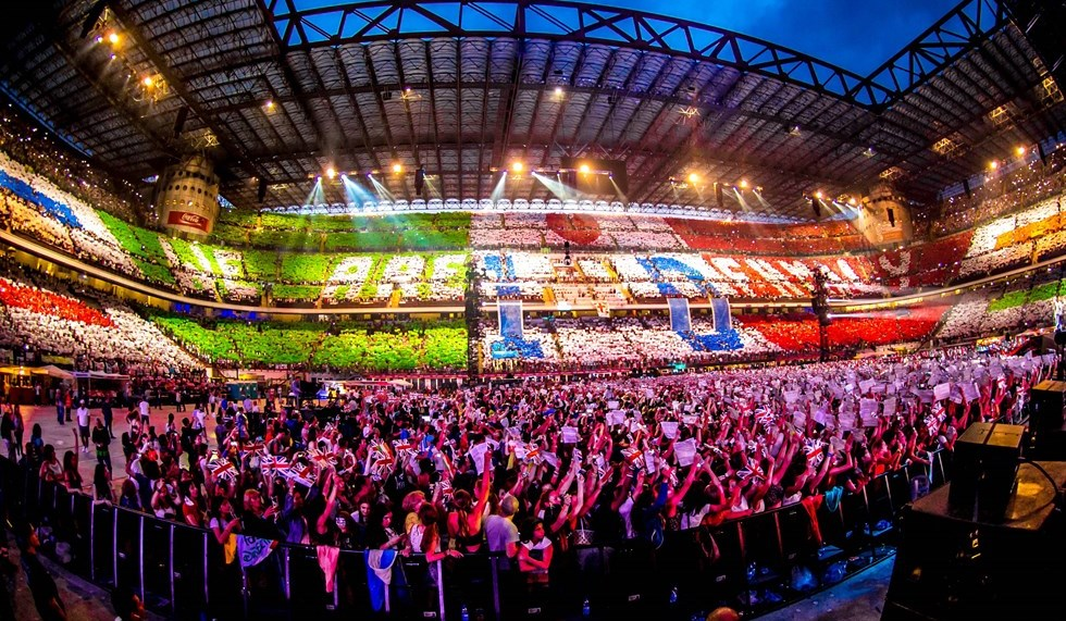 1D One Direction Where We Are Tour Concert Film Poster San Siro