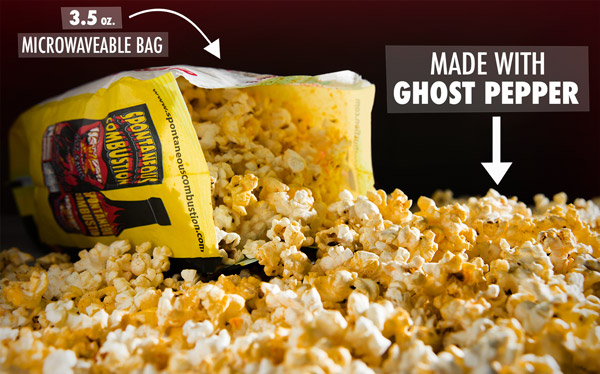 Ghost Pepper Popcorn: Microwavable popcorn flavored with a ...