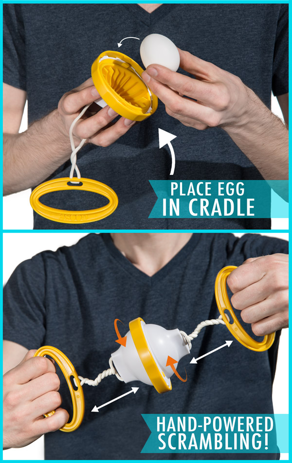An Egg Rests In The Cradle While Hands Spin Goose