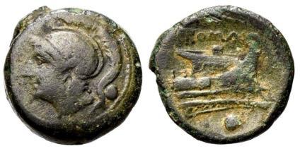 Ancient Coins - Uncia Anonymous Roman Republic ca 217-215 BC