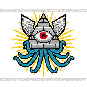 Пирамида с глазком. Всевидящее око. Символ мира ...
