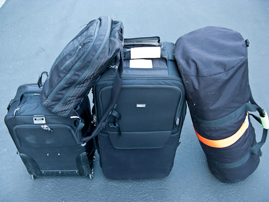 Rapha Backpack, ThinkTank Photo Airport Security V2, Thinktank Photo Logistics Manager, Duffle